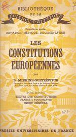 Vente EBooks : Les constitutions européennes (2). Textes des constitutions, France à Yougoslovie. Index général  - Boris Mirkine-Guetzévitch