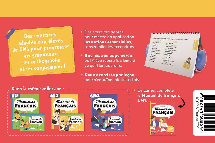 Exercices de français ; CM1