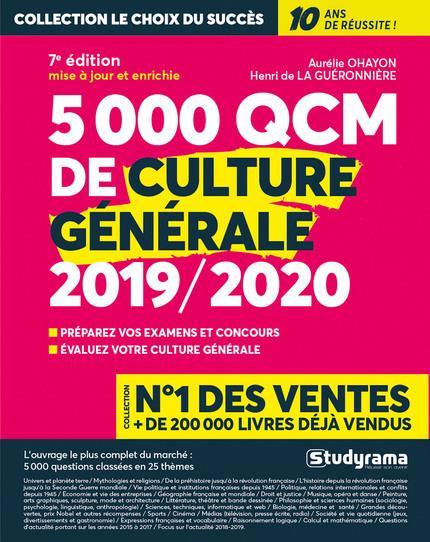 5000 Qcm De Culture Generale (Edition 2019/2020)