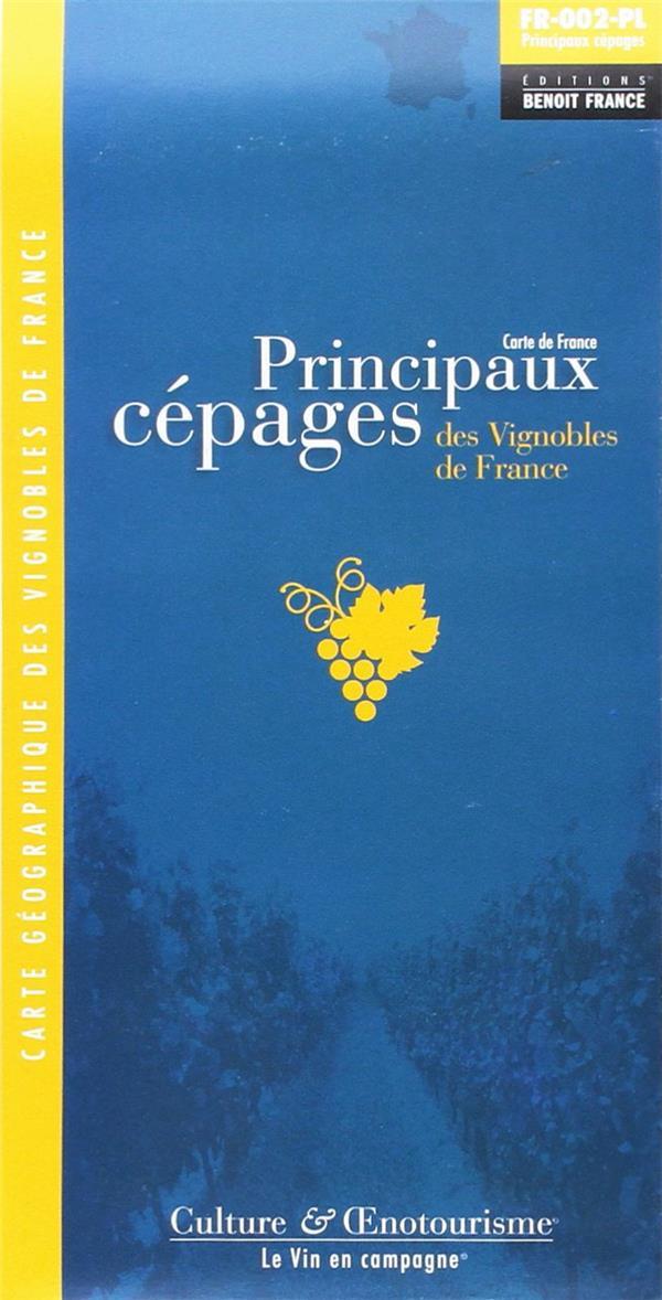 Principaux cépages des vignobles de France