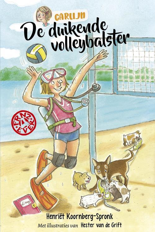 De duikende volleybalster