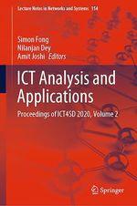 ICT Analysis and Applications  - Simon Fong - Nilanjan Dey - Amit Joshi