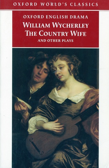 the country wife et  other plays