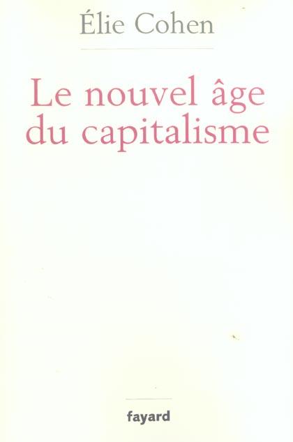 Le nouvel âge du capitalisme