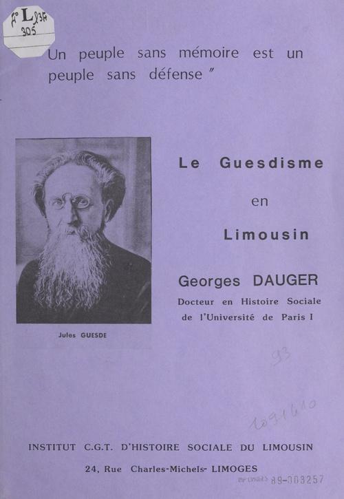 Le guesdisme en Limousin