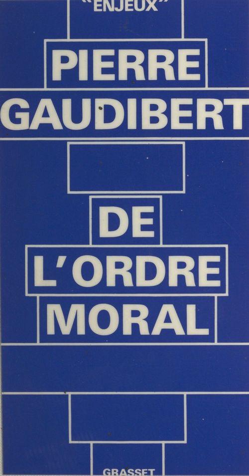 De l'ordre moral