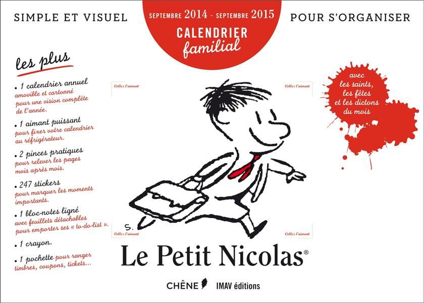 Le Petit Nicolas ; calendrier familial ; septembre 2014/septembre 2015