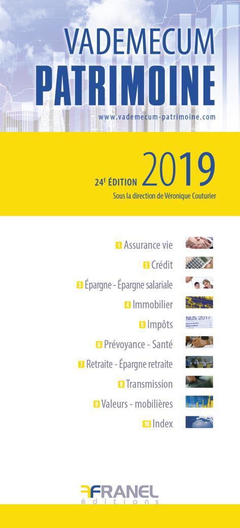 Vademecum ; patrimoine (édition 2019)