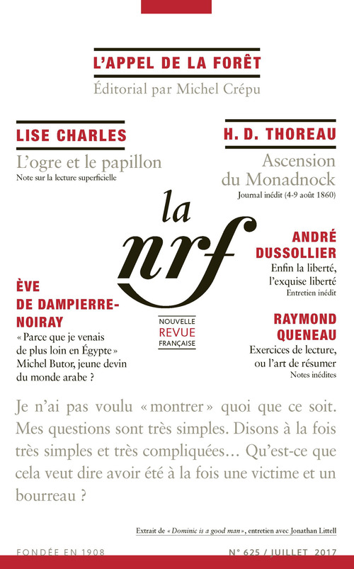 La Nouvelle Revue Française N° 625  - collectifs  - La Nouvelle Revue Francaise