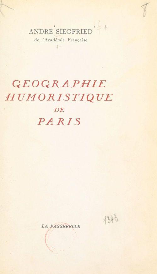 Géographie humoristique de Paris