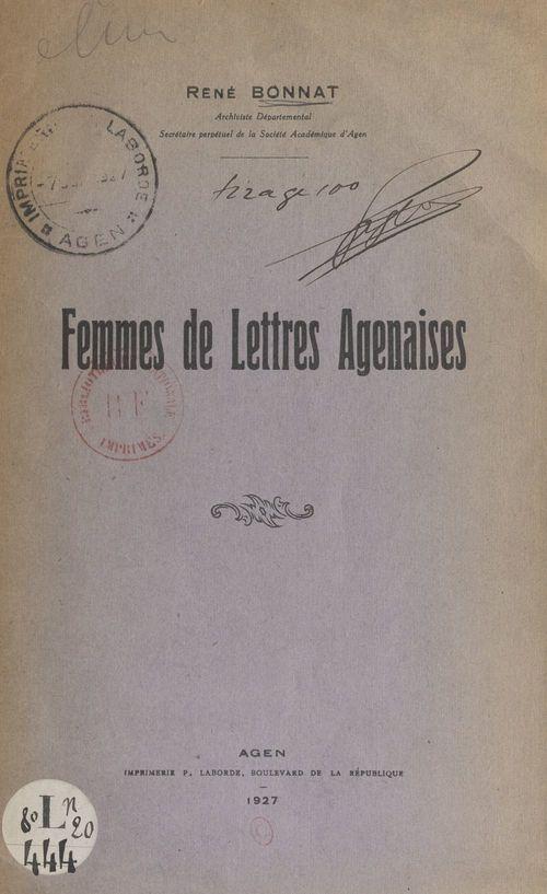 Femmes de lettres agenaises