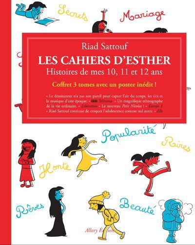 Les cahiers d'Esther ; COFFRET T.1 A T.3 ; histoires de mes 10, 11 et 12 ans