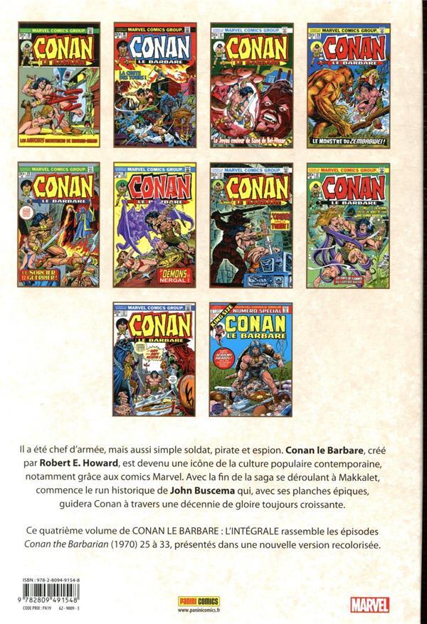Conan le Barbare ; INTEGRALE VOL.4 ; 1973