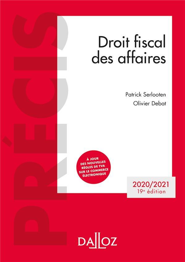 Droit fiscal des affaires (édition 2020/2021)