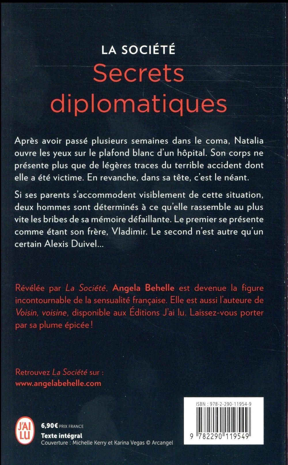 La société t.9 ; secrets diplomatiques