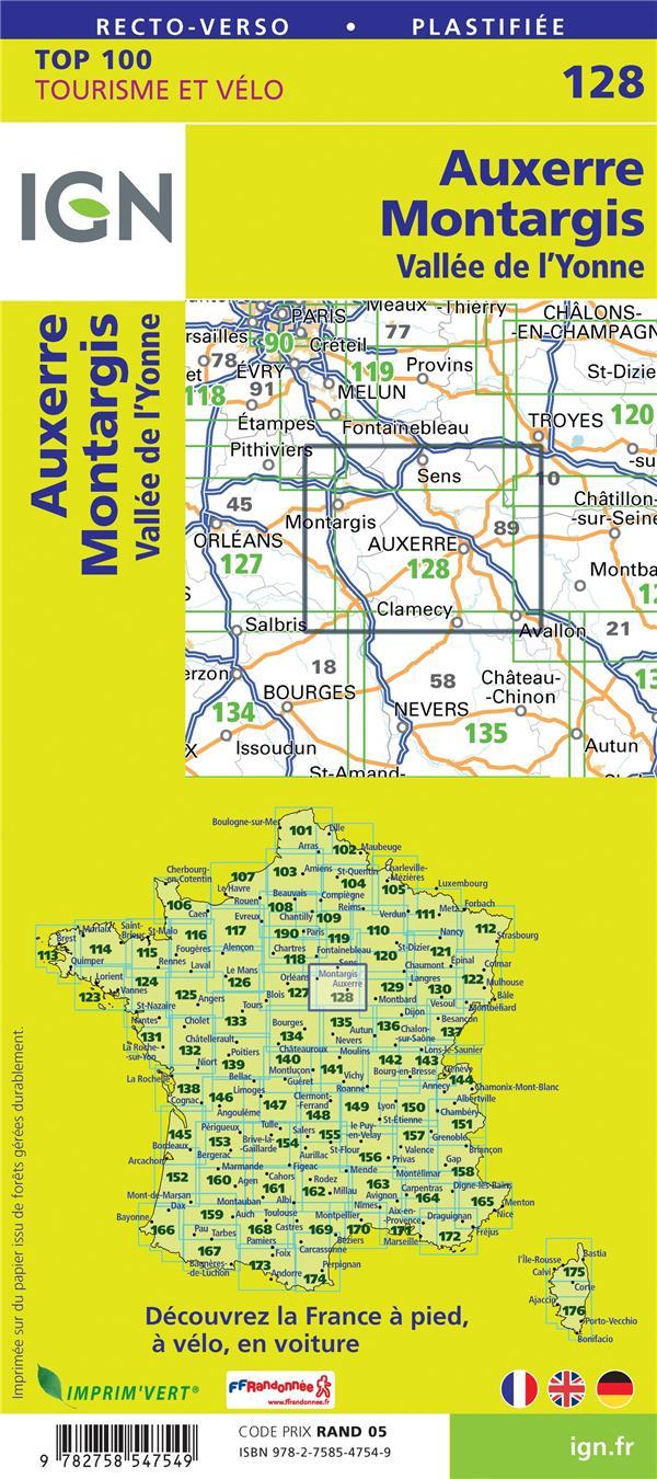 TOP100128 ; Auxerre, Montargis, Vallée de l'Yonne (4e édition)