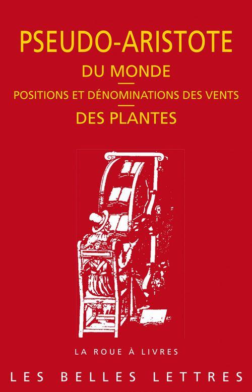 Du monde des plantes ; positions et dénominations des vents