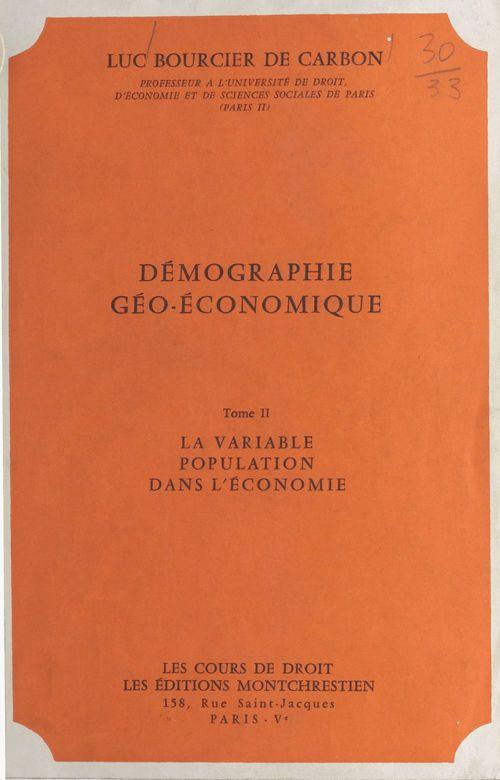 Demogr.geo economique 2