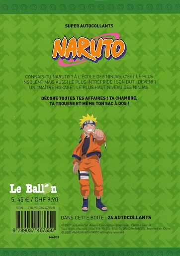 Naruto ; autocollants transparents !