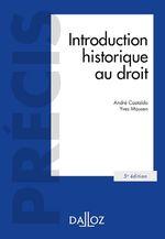 Vente EBooks : Introduction historique au droit - 5e éd.  - André Castaldo - Yves Mausen