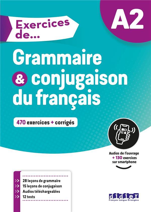 Exercices De Grammaire Conjugaison Du Francais A2 Collectif Didier Grand Format Les Cyclades St Cloud