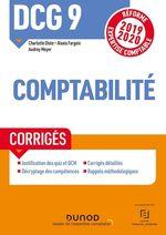 Vente EBooks : DCG 9 ; introduction à la comptabilité ; corrigés (édition 2019/2020)  - Charlotte Disle - Audrey Meyer - Alexis Fargeix