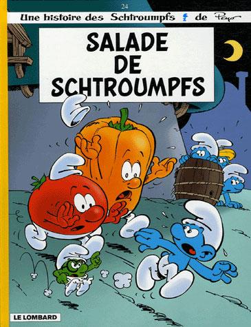 Les Schtroumpfs T.24 ; salade de Schtroumpfs