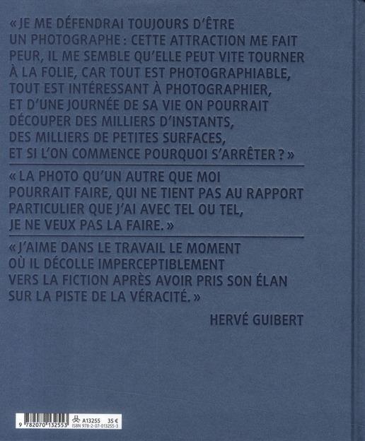 Hervé Guibert photographe