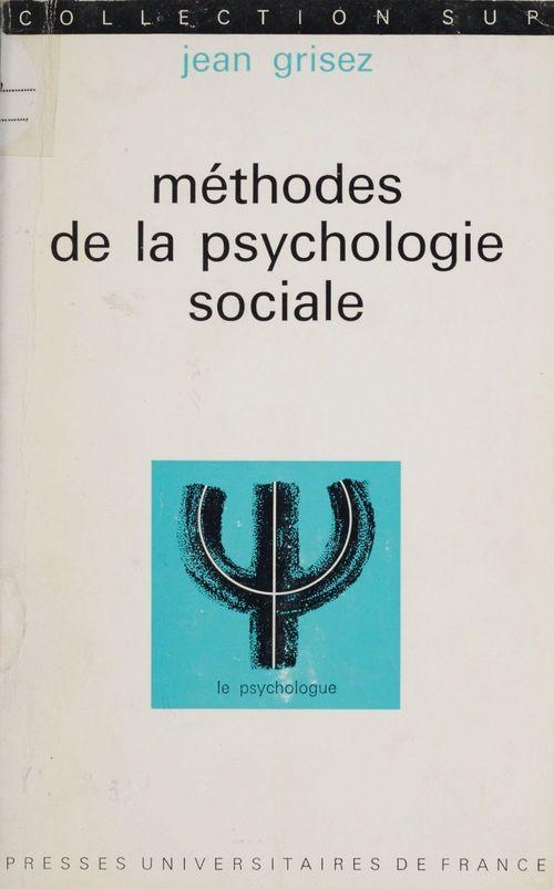 Méthodes de la psychologie sociale
