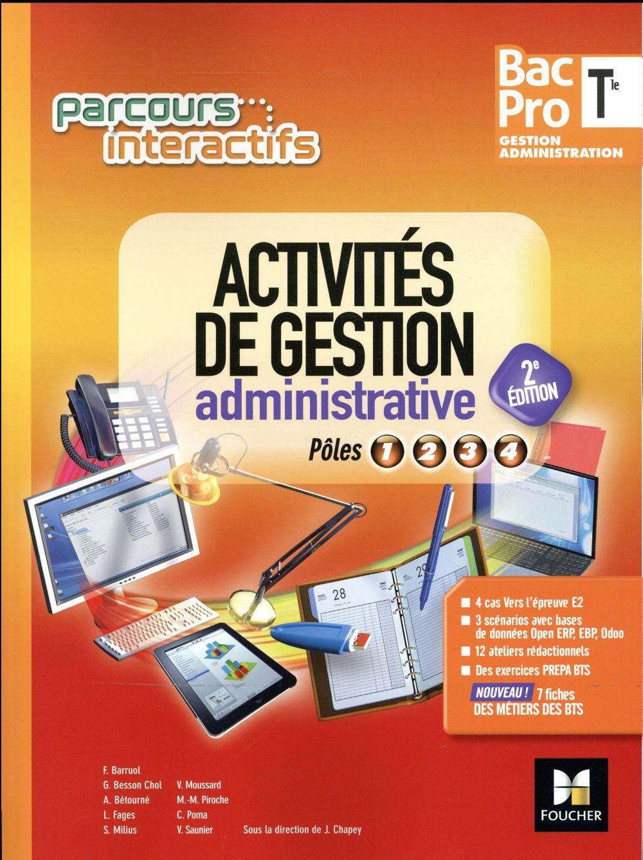 Parcours interactifs ; activités de gestion administrative ; terminale bac pro GA ; manuel de l'élève (édition 2017)