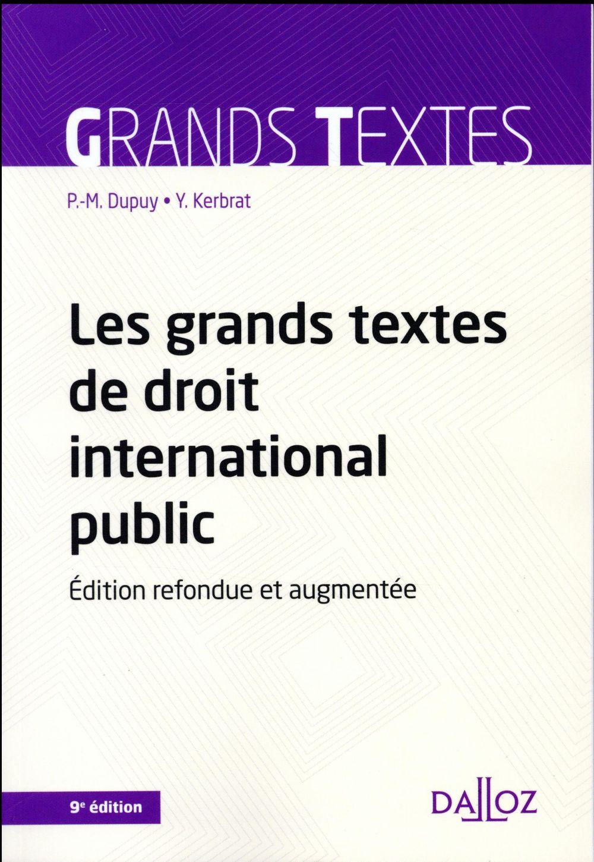 Les grands textes de droit international public (9e édition)
