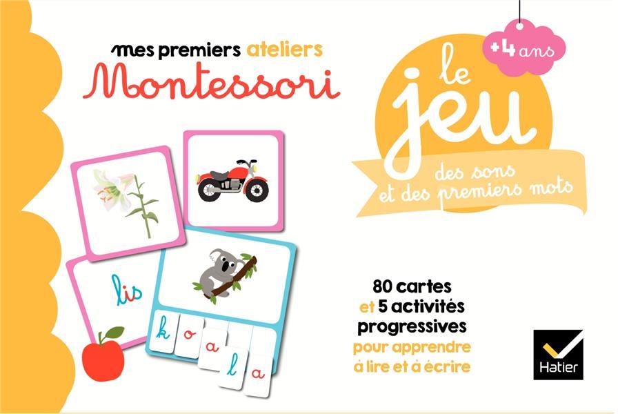 Mes premiers ateliers Montessori ; le jeu Montessori des sons et des premiers mots