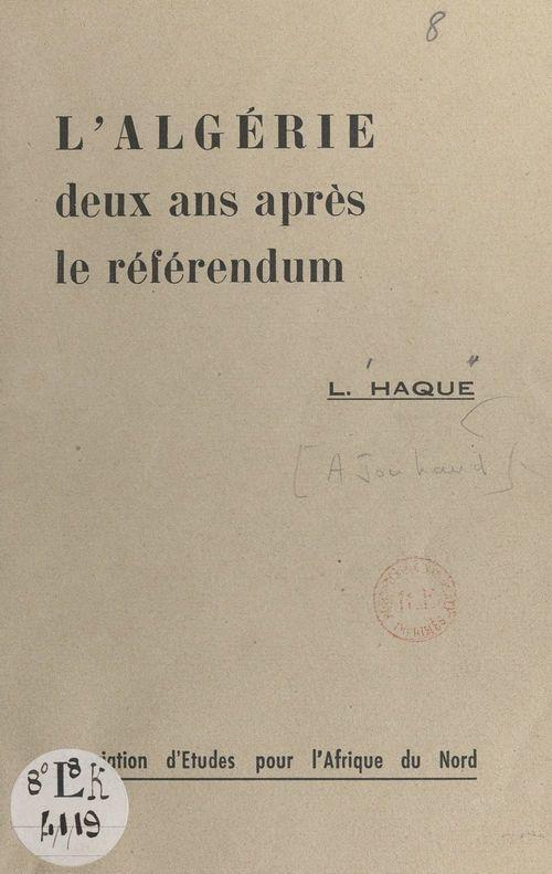 L'Algérie deux ans après le référendum