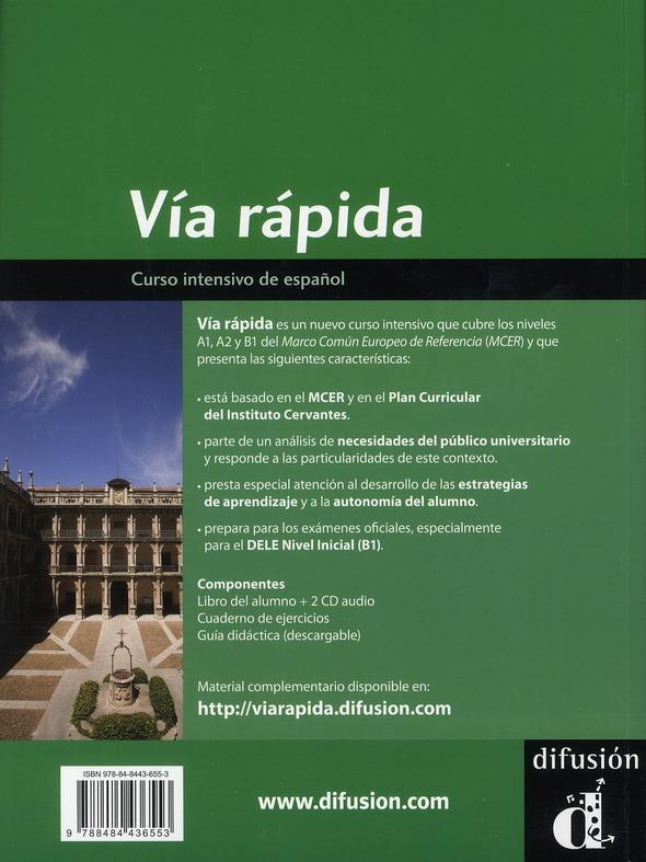Vía rápida ; curso intensivo de español ; A1-B1 ; livre de l'élève