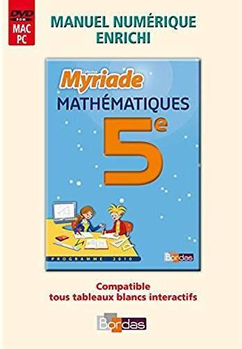 MYRIADE ; maths ; 5e ; MVP ; tarif non adoptant (édition 2010)