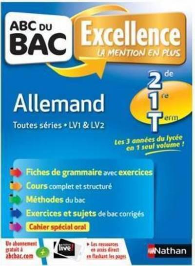 ABC DU BAC EXCELLENCE T.53 ; allemand ; toutes séries ; LV1 ; LV2 (édition 2018)