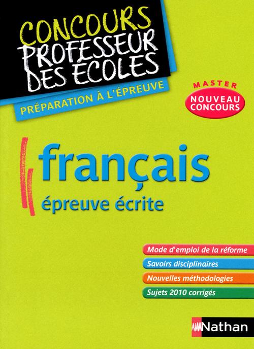 Français ; épreuve écrite ; master nouveau concours