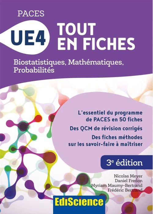 PACES UE4 tout en fiches ; mathématiques, probabilités, biostatistiques