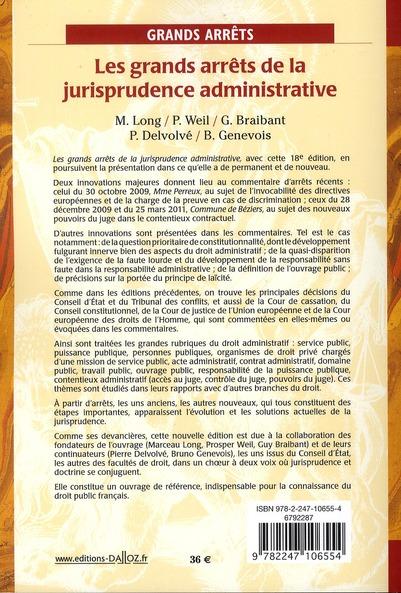Les grands arrêts de la jurisprudence administrative (18e édition)