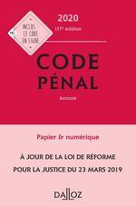 Vente Livre Numérique : Code pénal 2020, annoté - 117e éd.  - Carole Gayet - Yves Mayaud