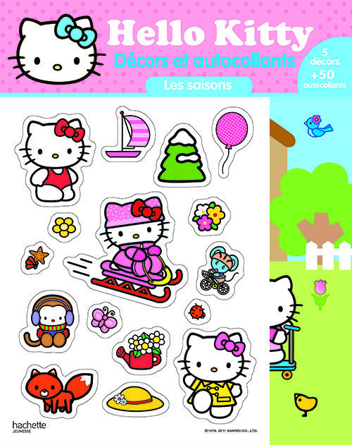 Hello Kitty ; Les Saisons ; Decors Et Autocollants