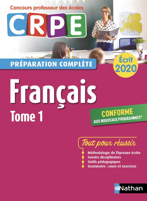 Annales CRPE ; français t.1 ; écrit (édition 2020)