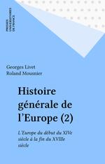 Histoire générale de l'Europe (2)