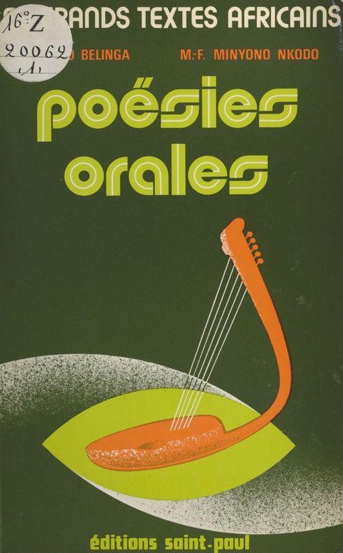 Poésies orales