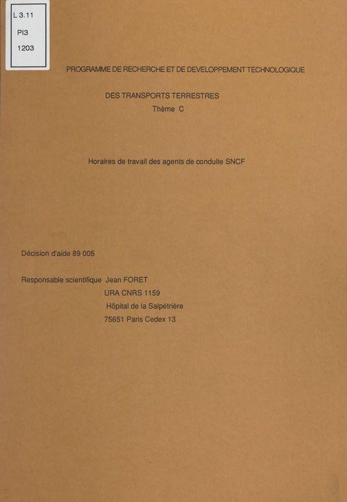 Programme de recherche et de développement technologique des transports terrestres