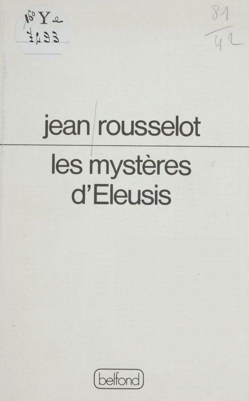 Les mysteres d'eleusis