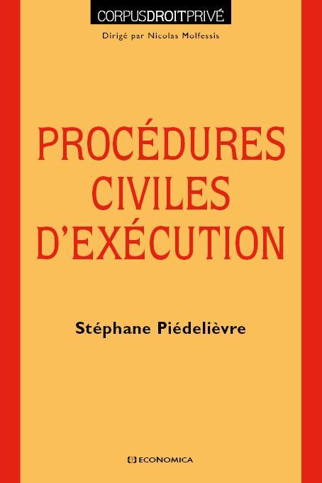 Procedures civiles d'execution