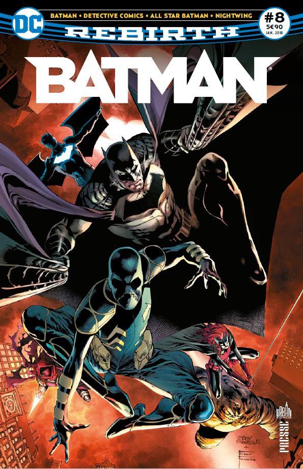 Batman rebirth n.8 ; la ligue des ombres est a gotham !