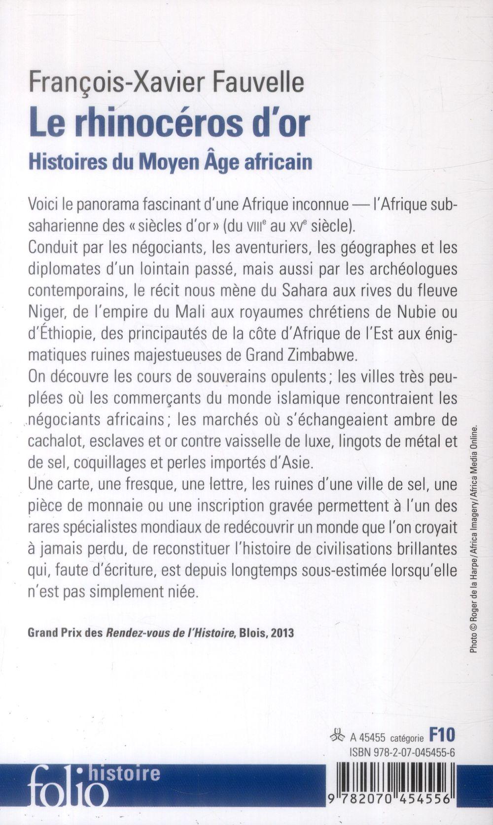 le rhinoceros d'or ; histoires du Moyen âge africain)