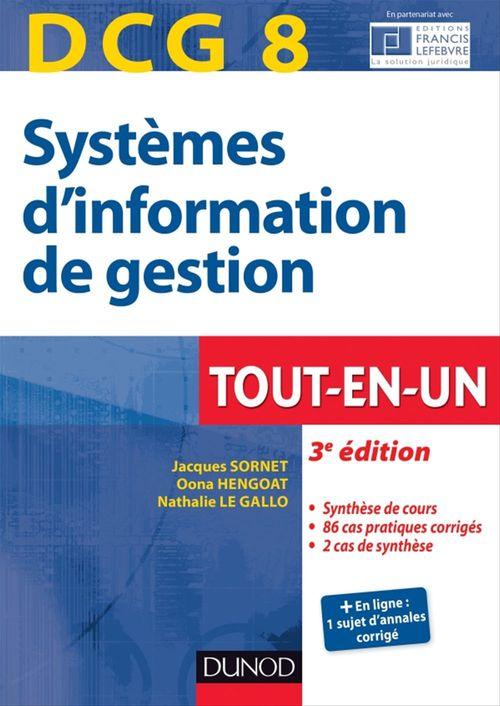 Systèmes d'information de gestion ; DCG 8 ; tout-en-un ; 3e édition